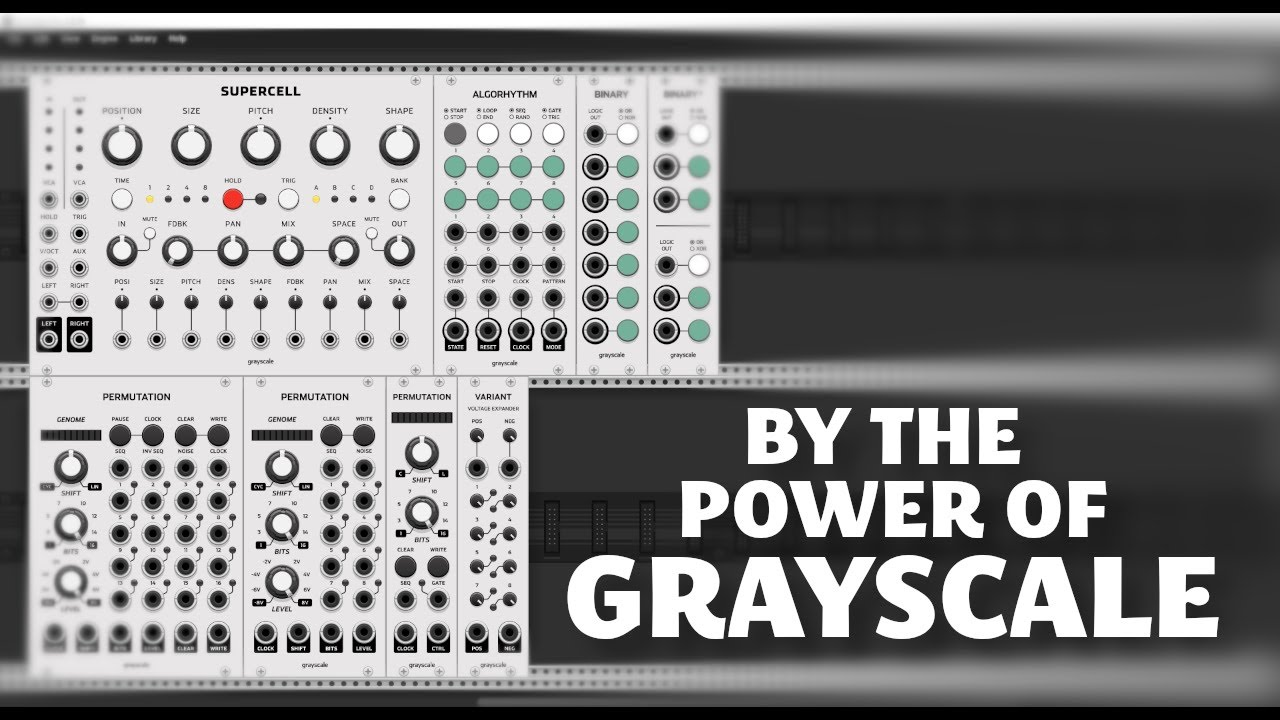 Overview of the Grayscale Collection in VCV Rack