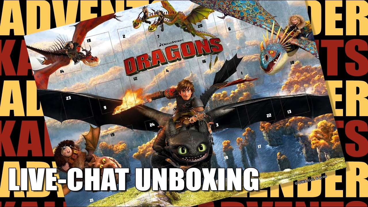 Dragons   Adventskalender Mit Schokolade   Live Chat Unboxing / 2015  Re Upload