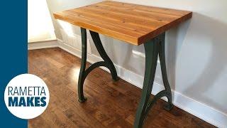 Build a Custom Sofa Table // DIY