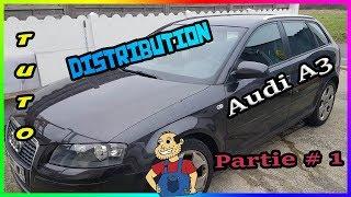 Remplacer  la    Distribution  Audi A3 sportback 2l tdi 140cv Partie#1 de A a Z