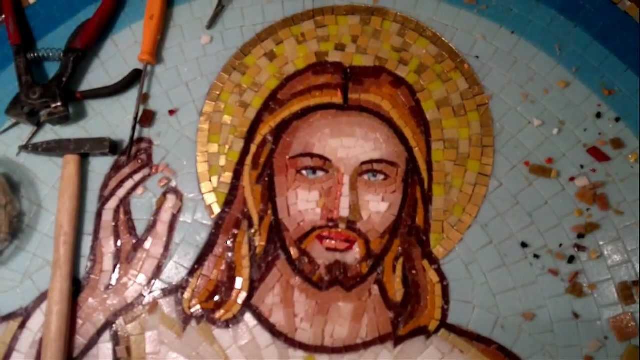 Conosciuto Mosaici sacri Il volto e le labbra di Gesù Misericordioso  VX45