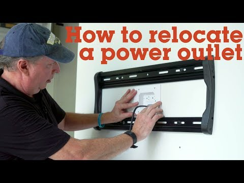 How to relocate an outlet when wall-mounting a TV | Crutchfield