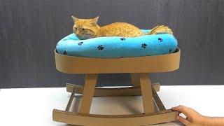 Как сделать интересную лежанку для кота