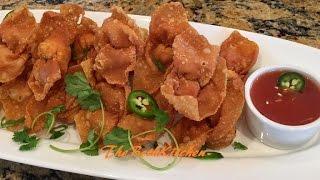 Hoành Thánh Tôm Chiên - Crispy Fried Shrimp Wonton with Sweet and Sour Dipping Sauce