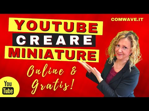 YOUTUBE MINIATURE Come creare miniature per YouTube gratis DA USARE ANCHE SU PINTEREST!
