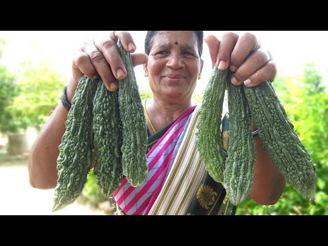 Grandma's Bitter Gourd Recipe in My Village | Granny Traditional Food | VILLAGE FOOD