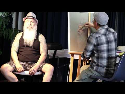 """John In Profile"" Demo for Sierra Pastel Society Group"