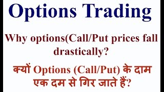 Options Trading  Why Options prices decrease? (in Hindi)