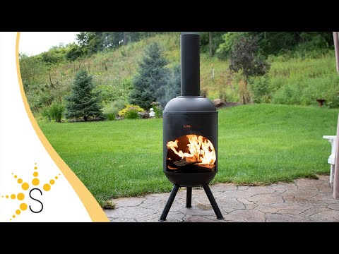 Sunnydaze Outdoor 5-Foot Black Chiminea Wood-Burning Fire Pit - RCM-LG765