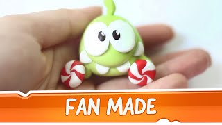 Om Nom from Cut the Rope Clay Tutorial by Boo
