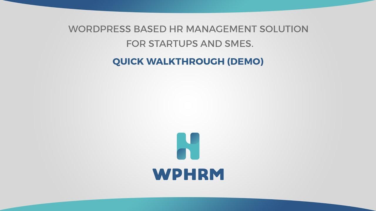 wordpress demo video