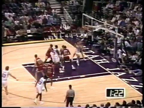 Feb 3, 1992 Bulls vs Jazz highlights