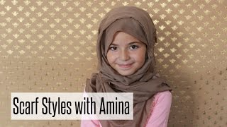 8 Year old does Scarf Styling | NABIILABEE