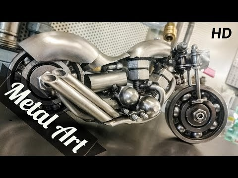 Metal Art - Handmade Motorcycle Sculpture