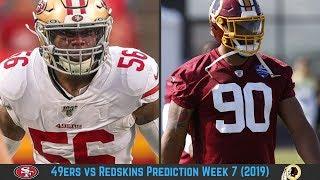 San Francisco 49ers vs Washington Redskins Prediction Week 7 2019