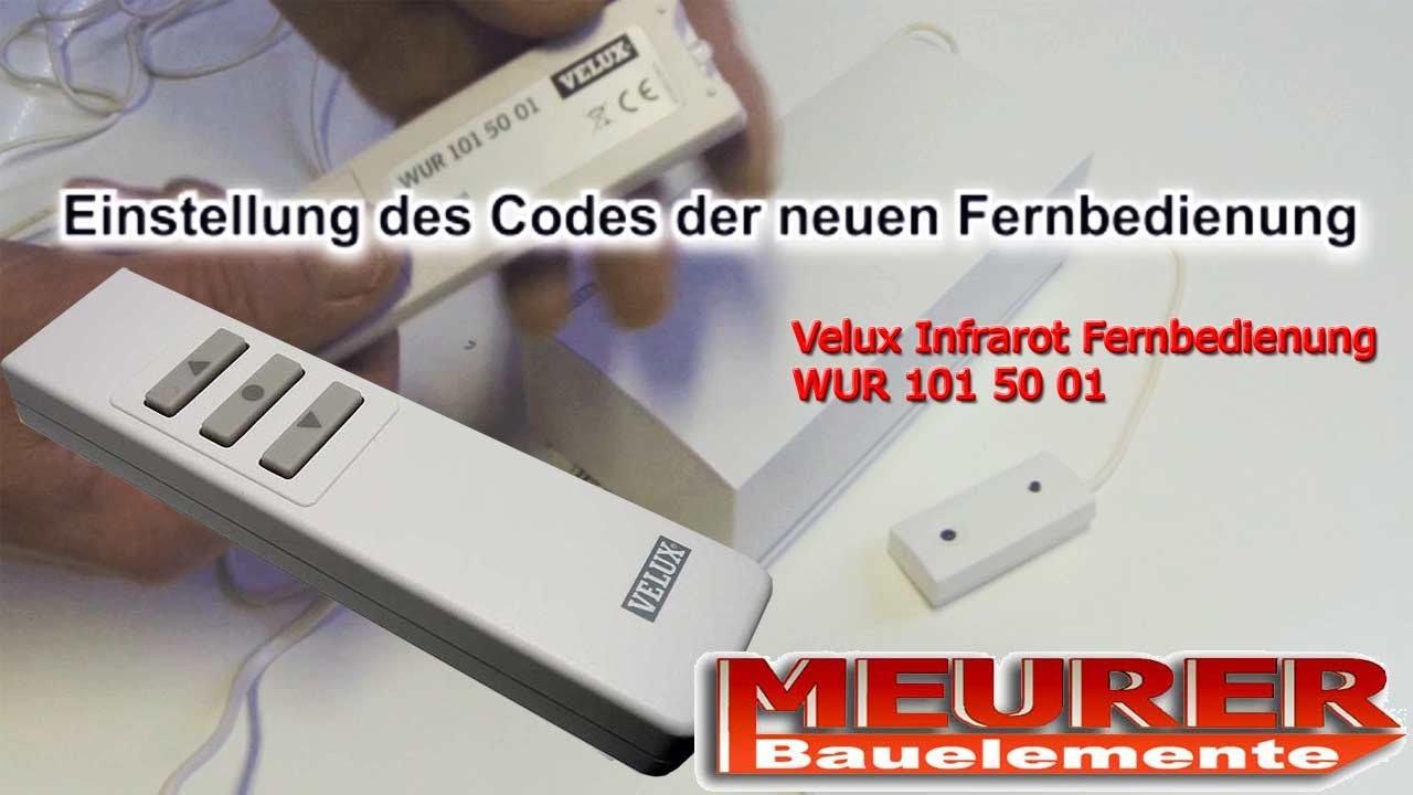 Velux Infrarot Fernbedienung Handsender Wur 101 Einlernen Youtube