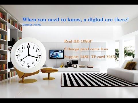 Classical Wall Clock WiFi Camera(AI-IP90)-Demo