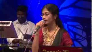 ALKA AJITH in GANESH KIRUPA Orchestra Sings Nadham En Jeevane Song