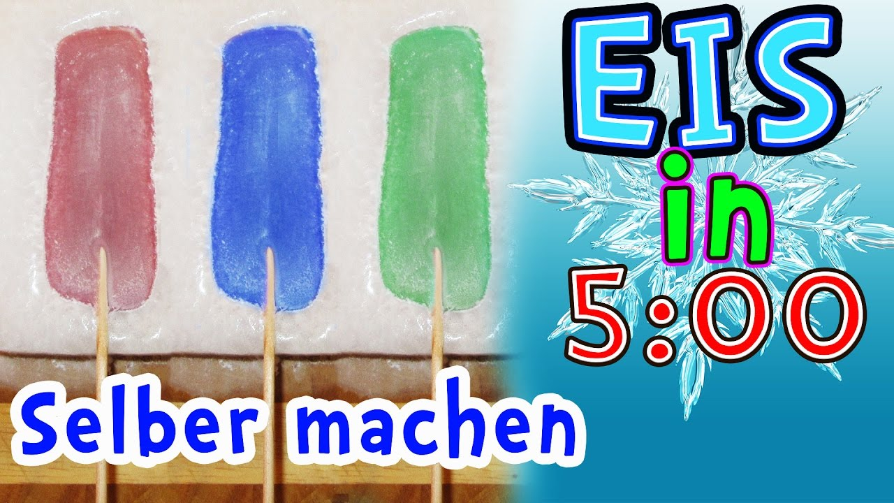 wasser eis in 5 minuten selber machen youtube. Black Bedroom Furniture Sets. Home Design Ideas