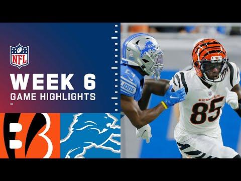 Bengals vs. Lions Week 6 Highlights | NFL 2021