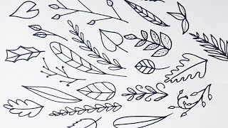How to Draw Simple Leaves and Vines