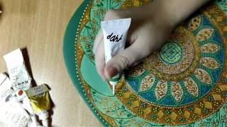 Роспись тарелки от Яны Шапран
