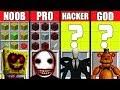 Minecraft Battle: NOOB vs PRO vs HACKER vs GOD: HORROR GAME CRAFTING CHALLENGE ~ Animation