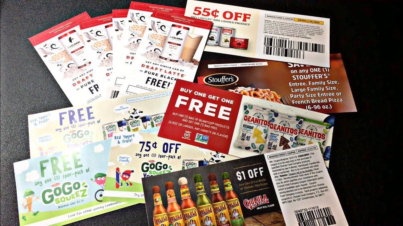 coupons sent to me by mail