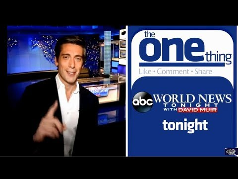 """DAVID MUIR, """"The One Thing"""" FaceCast 2014 December Compilation"""