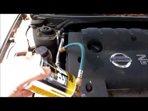 Add Freon to Nissa Altima 2.5L AC System