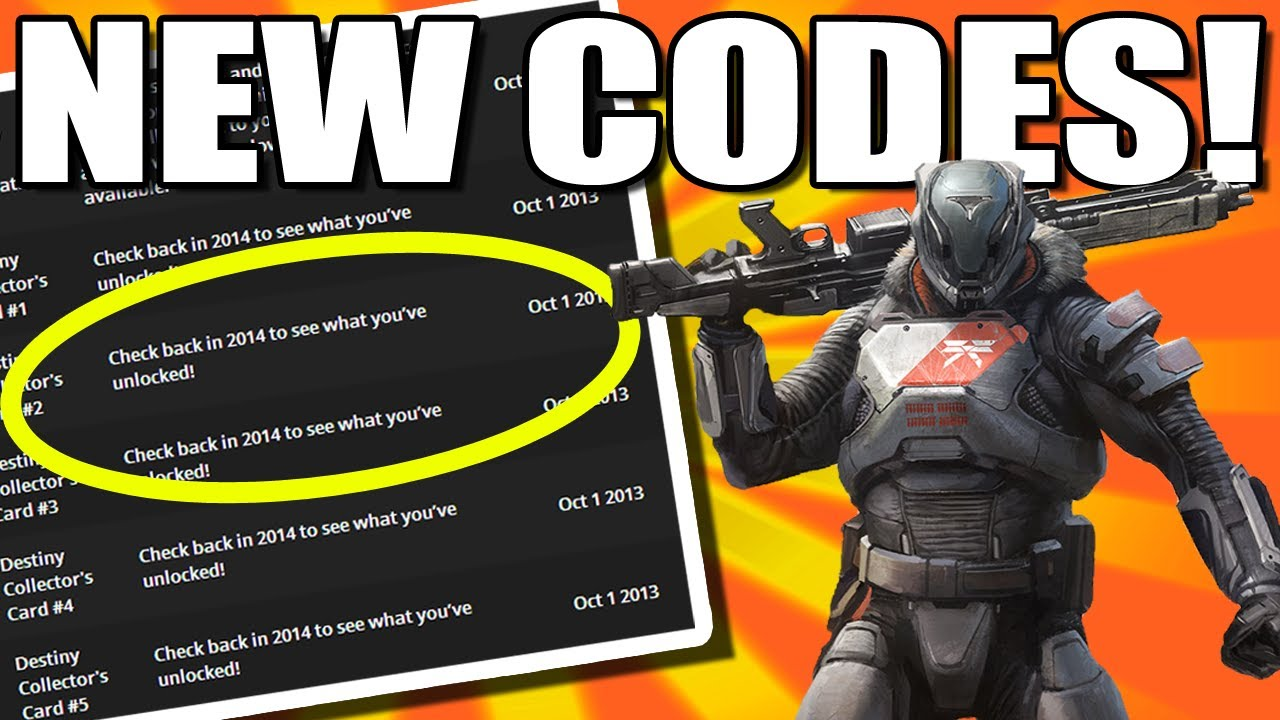 <b>Destiny</b> News - New Redeemable <b>Codes</b>! - YouTube