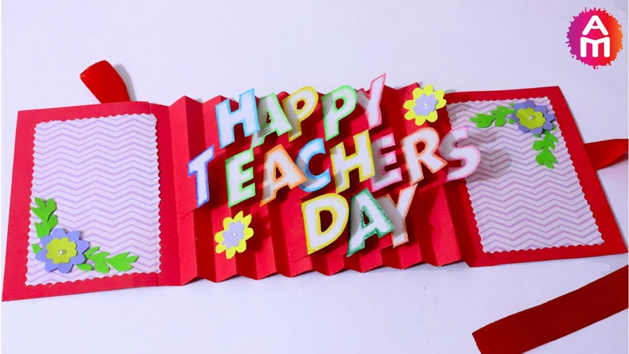Teachersdaycard greetingcard dpopupcard also diy teacher   day card handmade teachers making idea  rh youtube