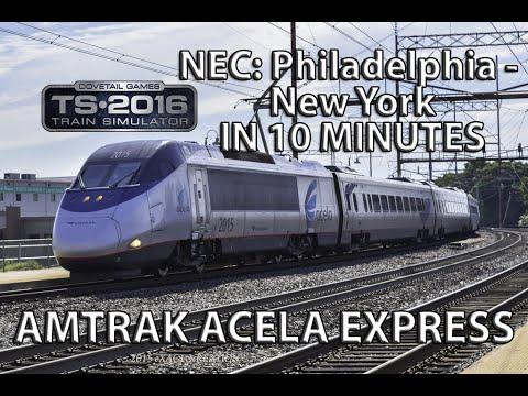 train simulator 2016 amtrak acela express nec philadelphia to new york full run in 10 minutes. Black Bedroom Furniture Sets. Home Design Ideas