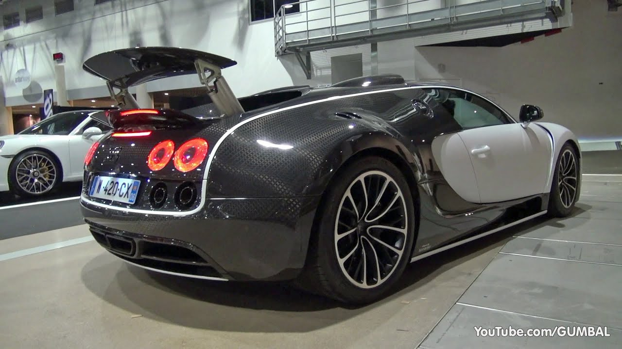$3.5 Million Bugatti Veyron 16.4 Mansory Vivere - Start up + Driving