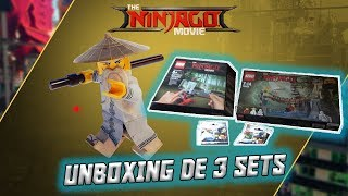 LEGO® Ninjago™ Le Film - Unboxing de 3 Sets !!