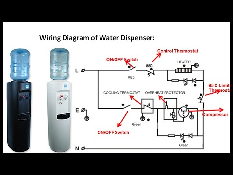 Cold And Hot Water Dispenser Wiring Diagram Youtube