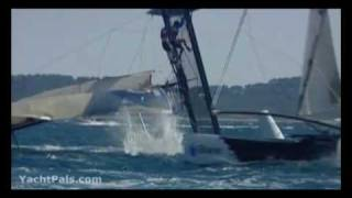 Boats Crashing and Flipping - Sailing Extreme 40 Catamarans