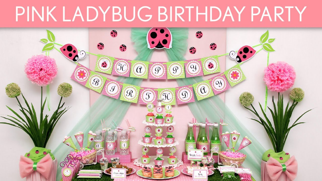 Ladybug Baby Shower Decorations