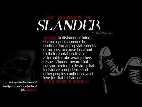 The Definition of Slander: The Spirit of Satan (the Devil)