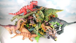 My 300+ Dinosaurs Toy Collection! Dinosaur Lego, Big&Small Dino, Walking Dinosaur, Laying eggs Kids