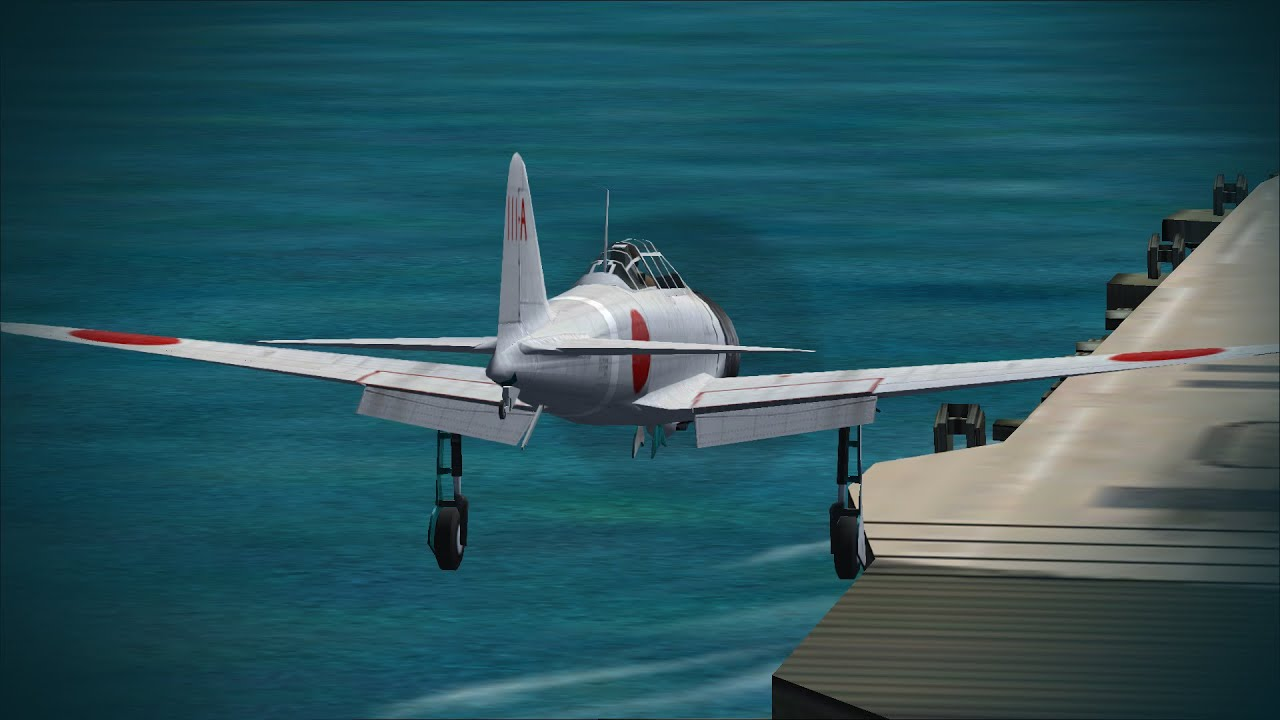 Microsoft Combat Flight Simulator 2 항공모함 착함 (한국어 자막) - YouTube