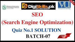 SEO Quiz-01 Solution | Batch 07 | Digiskills