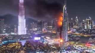 Самый крупный пожар в мире 2016 [Новый год в Дубае]