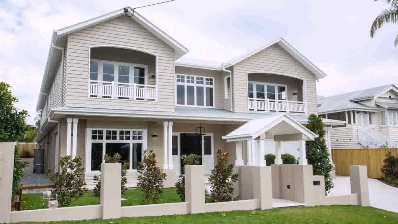 American hampton style house plans youtube for Hamptons style house