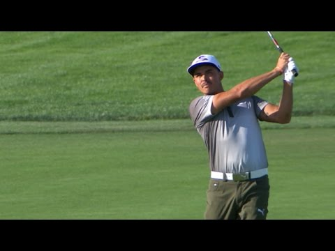 Rickie Fowler finishes in style with birdie on No. 18 at The Barclays