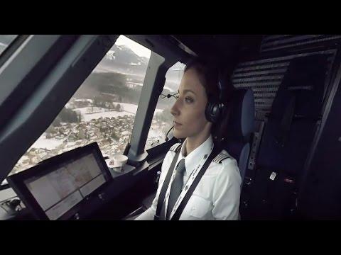 Cockpit-Flug in 360°: Von Düsseldorf nach Salzburg