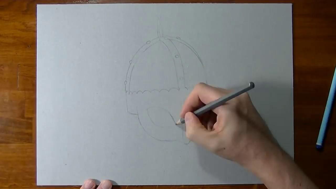 Il Disegno Più Bello Al Mondo Elmetto D Argento 3d Youtube