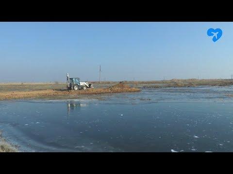 Устранение аварии на выезде из Ахтубинска (05.11.2019)