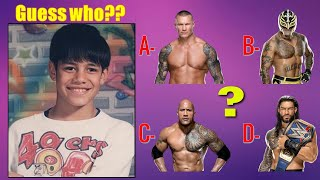 99 Fail to Guess WWE SUPERSTARS By Their EXTREME RARE Childhood Photos WWE QUIZ