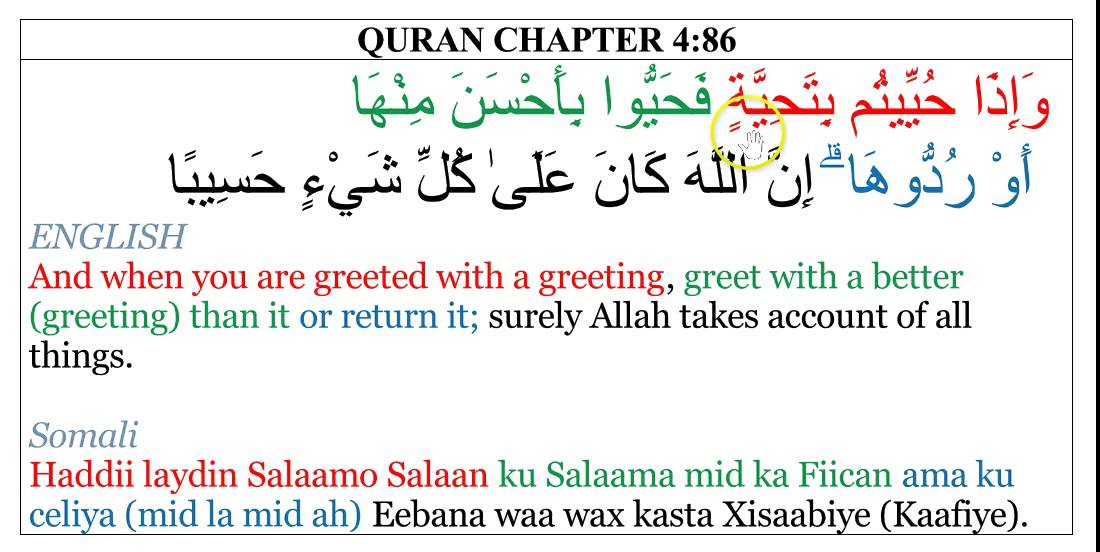 Quran chapter 4 verse 86 islamic greeting and how important it is to quran chapter 4 verse 86 islamic greeting and how important it is to reply m4hsunfo